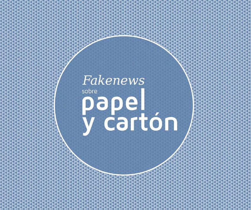 Folleto Fakenews sobre el papel y el cartón