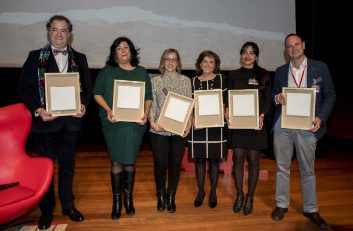 2018 Premios Firo-Vázquez-Almudena-Grandes-Elena-Lobera-Ana-Santos-directora-BNE-Alejandra-Amusquívar-Pablo-Sánchez-Mahou-San-Miguel-_MA_9716-1024x671